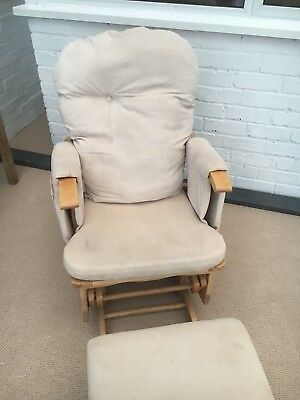 Baby Weavers Gliding Oak Nursing Chair and Footstool