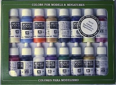 Vallejo 17ml Bottle Napoleonic Model Color Paint Set (16 Colors) - Hobby and