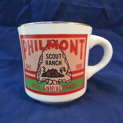 BSA Boy Scouts of America Ceramic Mug 1981 Philmont Scout Ranch 40th Anniversary