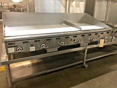 "Vulcan  Natural Gas 72"" Griddle, Flat Grill Thermostatic Controls # 13272"