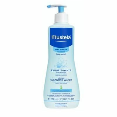 Mustela Cleansing Water, No Rinse, Face and Diaper Area, Normal Skin 10.14 oz