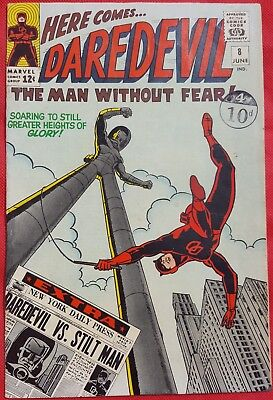DAREDEVIL 8 MARVEL SILVER AGE 1965 Wally Wood cover & art