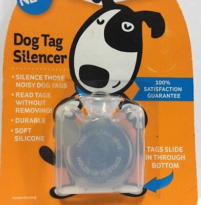Standard ThunderCover Clear Dog Tag Durable Silicon Silencer for Noisy Pets