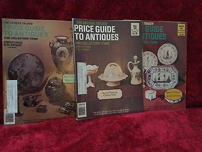 Lot Of 3  Antique Trader Price Guide to Antiques 1981