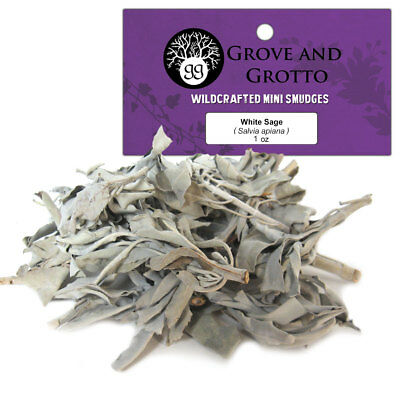 Loose White Sage 1 oz Package Smudging Herb California Leaves Stems Wildcrafted