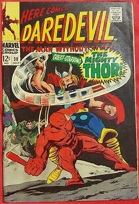 DAREDEVIL 30 MARVEL SILVER AGE 1967 Thor appearance