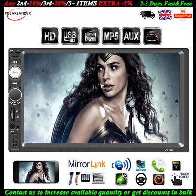 7'' 2 DIN Touch Screen Car Radio MP5 Bluetooth FM/AUX/USB/TF Mirror Link Stereo