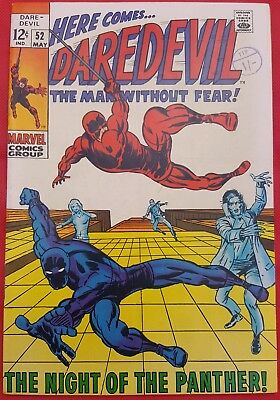 DAREDEVIL 52 MARVEL SILVER AGE 1967 BLACK PANTHER APP BARRY WINDSOR-SMITH ART vf