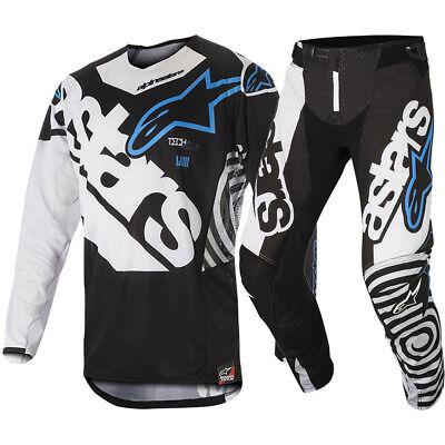 Alpinestars NEW Mx 2018 Techstar Venom Black White Adults Motocross Gear Set