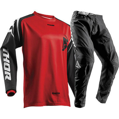 NEW Thor 2019 MX Sector Zone Red Jersey Pants Dirt Bike CHEAP Motocross Gear Set
