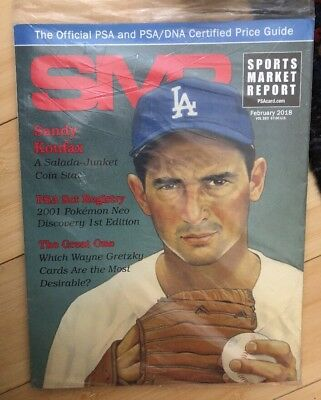 Sealed SPORTS MARKET REPORT February 2018 SMR PSA PRICE GUIDE Sandy Koufax COVER