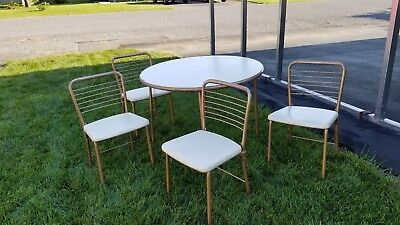 Vintage HAMILTON COSCO Folding Chairs and Card table set - Mid-Century 4 chairs