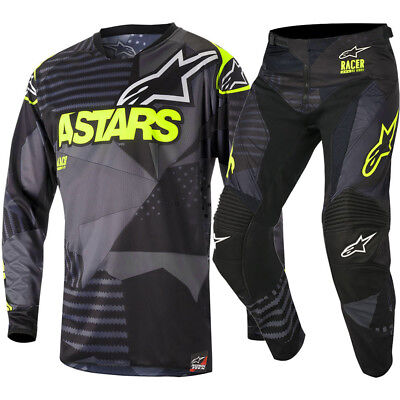 Alpinestars NEW Mx 2018 Racer Tactical Black Fluro Adults Motocross Gear Set
