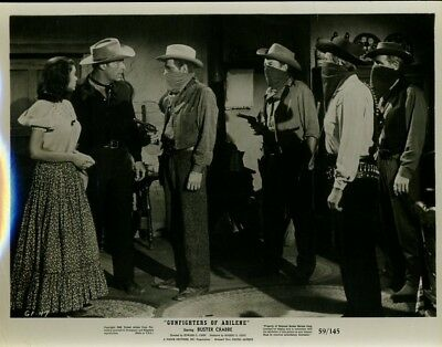 Larry Buster Crabbe Gunfighters Of Abilene 1959 Orig 8X10  Photo X5830