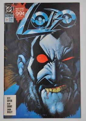 DC Comics Book LOBO 1 of 4 Nov 90 1990 first issue Bisley