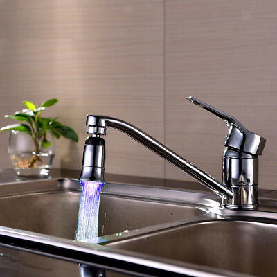 Automatic Glow Shower Waterfall Blue Color Led Light Water Faucet Tap 7.8cm