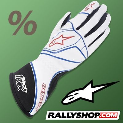 ALPINESTARS TECH 1-KX Karting Gloves WHITE kart  CLEARANCE SALE!