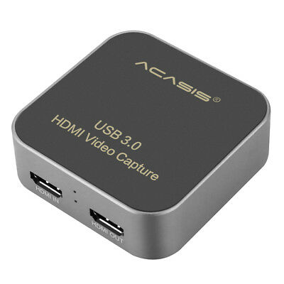 AC-HDCP USB 3.0 HDMI to Type-C 1080P HD Video Capture Card Box Drive for TV PC