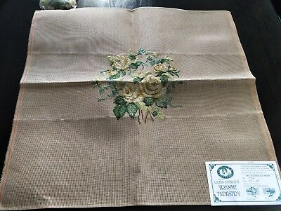 BRAND NEW QUEEN ADELAIDE Trammed TAPESTRY CANVAS & WOOL No. A521 FLOWERS