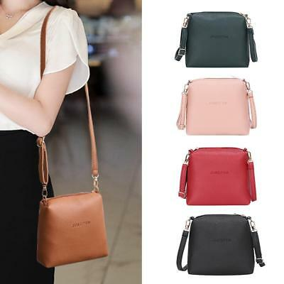 Women PU Leather Shoulder Bags Pure Messenger Bags Crossbody Satchel Purse Tote