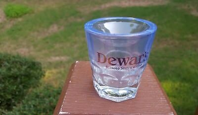 Dewars White Label Blended Scotch Whiskey Large Shot Rocks Glass New Sealed Pack