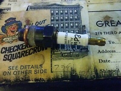 "Vintage Antique Spark Plug EDISON ALBANITE  made In USA Hex 1"" ("