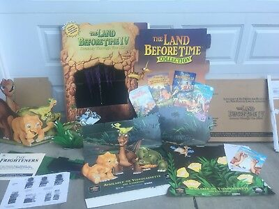 THE LAND BEFORE TIME IV Littlefoot Movie Store Promotion Theater Display POP NIB