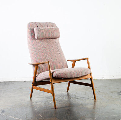 Astonishing Mid Century Danish Modern Lounge Chair Recliner Fohlke Spiritservingveterans Wood Chair Design Ideas Spiritservingveteransorg
