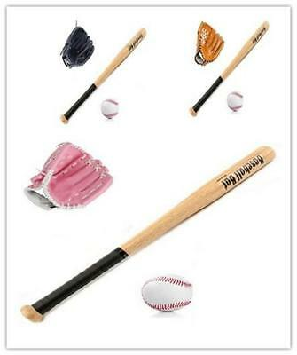 3PCS Children Kids Mini Baseball Gloves Bat & Baseball Set Sports Best Gift XMAS