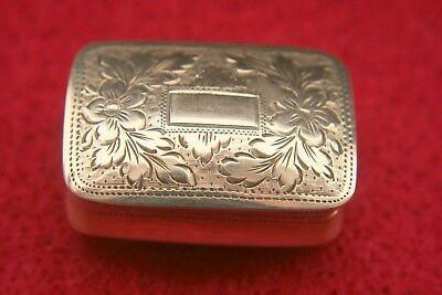 William Iv Solid Silver Vinaigrette By John Lawrence 1830