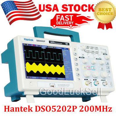 "Hantek DSO5202P 2Channel 7""TFT LCD 800x480 USB Digital Oscilloscope 1GS/s 200MHz"