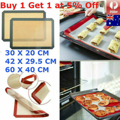 Durable Non-Stick Silicone Baking Mat Fibreglass Cookie Sheet Oven Cake Liner