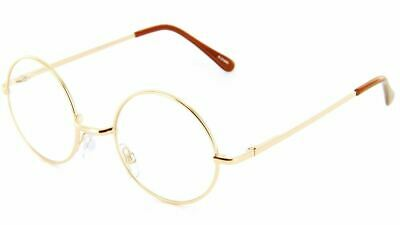Small Round Glasses Clear Lens with Spring Hinges, 46mm