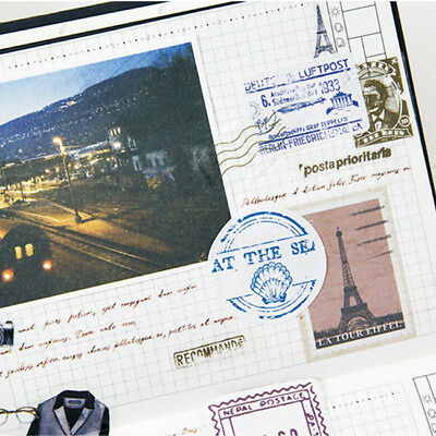 Creative Travel Stamp Forest Sealing Sticker Decal Diary Scrapbook Ablum Decor Z
