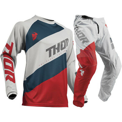 NEW Thor MX 2019 Sector Shear Grey Red Jersey Pants CHEAP Motocross Gear Set
