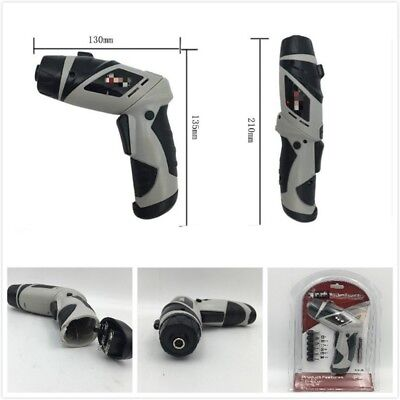 6V Screwdriver Electric Drill Battery Powered Cordless Wireless Portable Gray GW