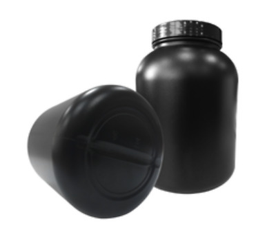 3000ml Black UV Safe HDPE Empty Wide Mouth Plastic Protein Jar Storage Container