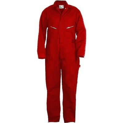 NEW BERNE MEN'S DELUXE 8.2 oz COTTON UNLINED RED COVERALLS MANY SIZES