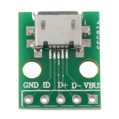 MICRO USB to DIP Adapter 5pin Female Connector B Type PCB Converter AA
