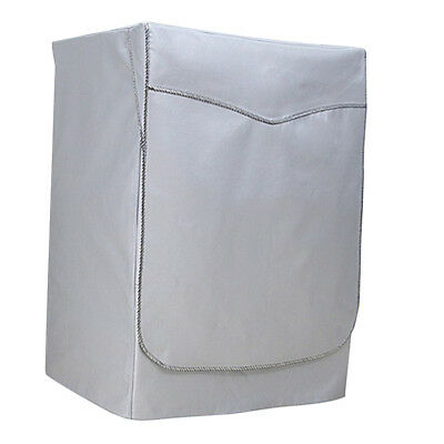 Washing Machine Cover Dust Proof Water Resistant Protector Silver Strap XL