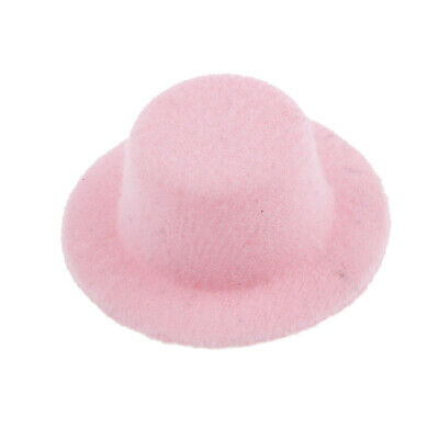 1:12 Scale Lovely Dolls House Miniature Doll Bowler Hat Accessories Pink