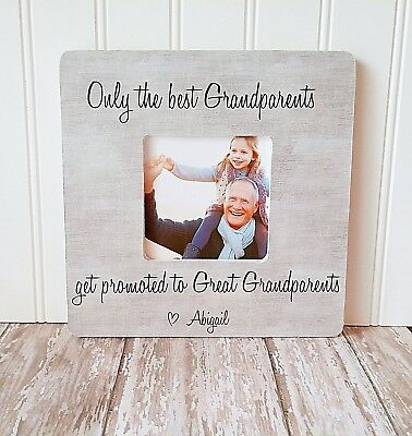 GREAT GRANDPARENTS PICTURE frame gift only the best Grandparents ...