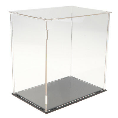 19x20cm Clear Music Box Dustproof UV Protection Display Case for Figures