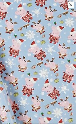 Peppa Pig Christmas Wrapping Paper 4 Meter