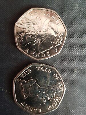 PETER RABBIT QUITE RARE 50P FITHTY NEW PENCE COIN 2016 Collectors FREE POST