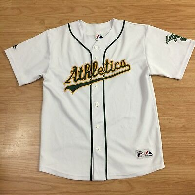 Oakland Athletics A's Bobby Crosby Majestic Youth Jersey Sz Large 14/16 White