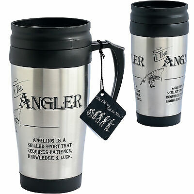 Fishermans The Angler Travel Mug Cup Fathers Day Birthday Christmas Dad Gift
