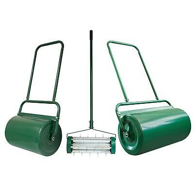 Outdoor Garden Std & Lrg Heavy Duty Lawn Grass Roller Seed Water Sand Filled