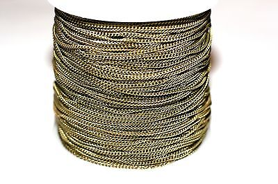 32ft 1.5x1mm twist Brass Antique Bronze Cable Chain links-soldered 1-3 day Ship