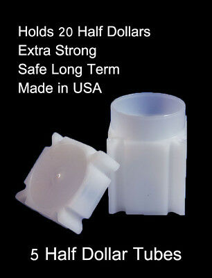 SAC 5 Small Dollar Square Coin Tubes  Archival Quality  Presidential SBA
